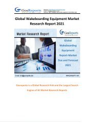 Global Wakeboarding Equipment Market Research Report 2021
