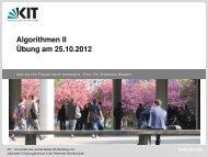 Solange - Algorithmik I - Karlsruher Institut für Technologie (KIT)