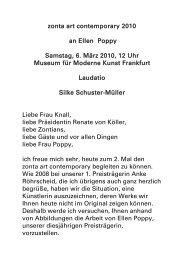Laudatio - Zonta Club Frankfurt II Rhein-Main