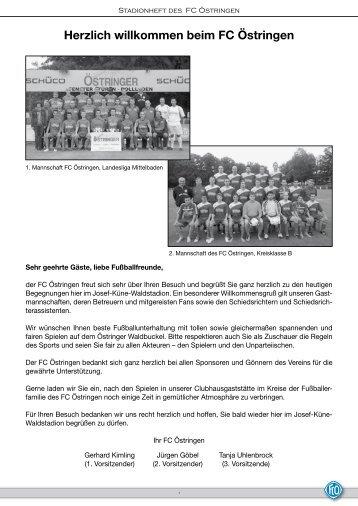 Stadionheft vom 16.05.2012 - FC 1922 Östringen eV