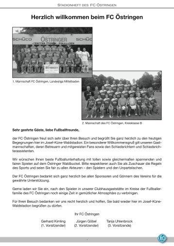 Stadionheft vom 21.08.2011 - FC 1922 Östringen eV