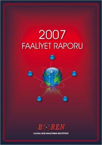 2007 Yılı Faaliyet Raporu - BOREN