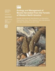 Ecology and Management of Morels Harvested From the Forests of ...