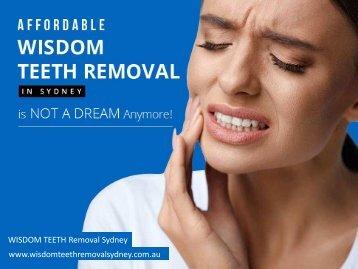 Affordable Wisdom Teeth Removal Cost in Sydney