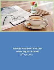 Daily Equity Report by Ripples Advisory 26th April 2017
