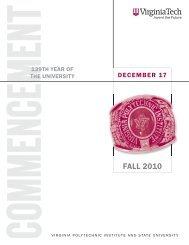 Fall 2010 (PDF) - Virginia Tech