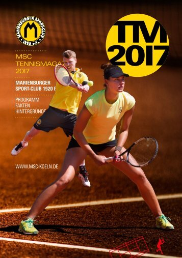 MSC Tennisheft Sommersaison 2017