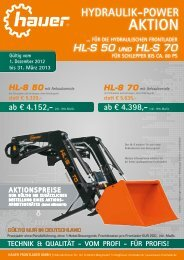 HL-S 50 mit anbaukonsole statt € 5.320,- Technik ... - Hauer Frontlader