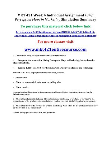 Mkt 421 week 2 individual assignment
