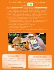 Restaurant Mobile App Advanced Your Restaurant Business