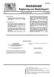 Amtsblatt - Die Regierung von Niederbayern