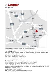 Location map - Headoffice Arnstorf (PDF) - Lindner Group
