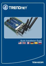 Guide d'installation rapide - TRENDnet