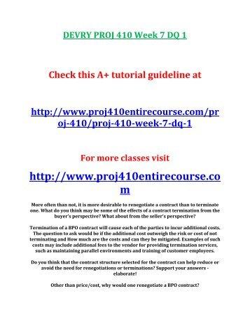 PROJ 410 Week 7 Case Study 3
