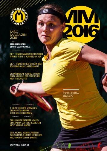MSC-Magazin 2016