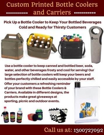 Custom Printed Bottle Coolers | Vivid Promotions