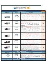 9 - Analog Kamera ve DVR Listesi