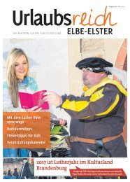 Ferienmagazin Urlaubsreich Elbe-Elster, Ausgabe 2017