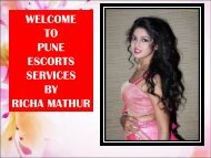 Pune Escorts Services By Richa Mathur