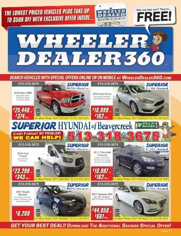 Wheeler Dealer Issue 17, 2017