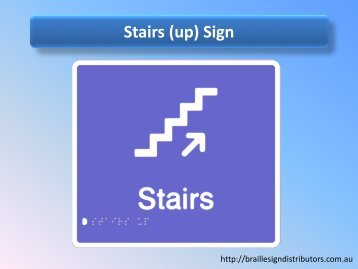 Stairs (up) Sign - Braille Sign Distributors