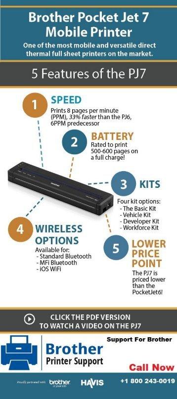 Top 5 Future of Brother Pocket Jet 7Mobile Printer | 1800-243-0019 Helpdesk