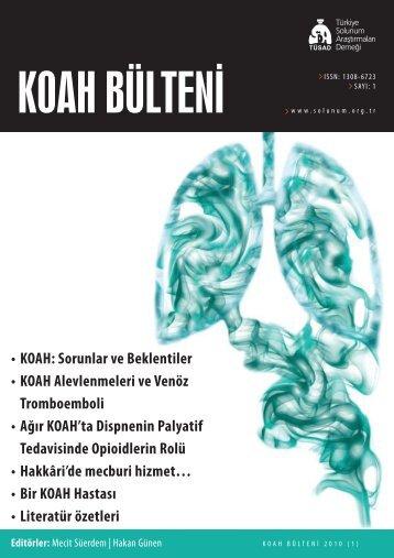 KOAH Bülteni 2010 Sayı 1