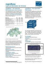 regioBase regionale Marktdaten der Schweiz