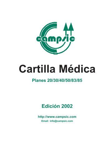 CAMPSIC - Cartilla 2002