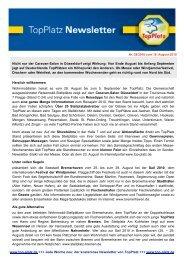 Newsletter vom 19.8.2010 - Top-Platz