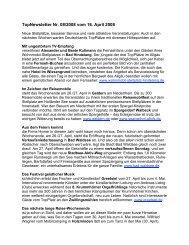Newsletter vom 16.4.2008 - Top-Platz