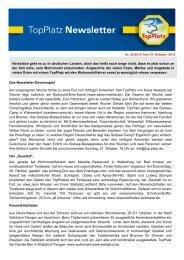 Newsletter vom 15.10.2012 - Top-Platz