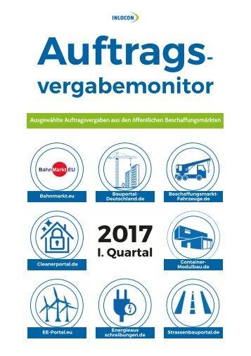 Auftragsvergabemonitor 1. Quartal 2017