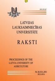 Latvijas Lauksaimniecības Universitātes Raksti Nr.26 (321), 2011 ...