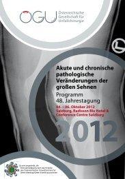 Programm - 48. ÖGU Jahrestagung 2012 - Österreichische ...