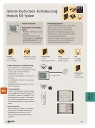 Headline Zentrale Touchscreen-Funksteuerung Meteolis RTS-System