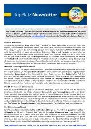 Newsletter vom 16.6.2010 - Top-Platz