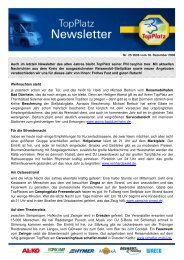 Newsletter vom 18.12.2008 - Top-Platz