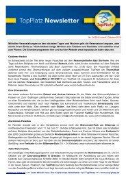 Newsletter vom 06.10.2010 - Top-Platz