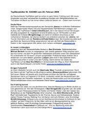 Newsletter vom 20.2.2008 - Top-Platz