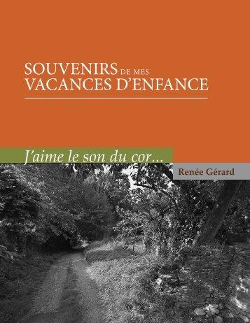 Vacances de Renée Gérard