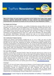 Newsletter vom 04.3.2010 - Top-Platz