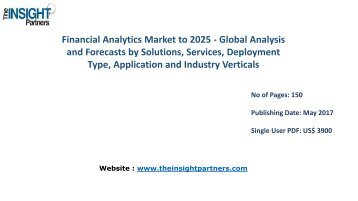 Financial Analytics Industry Analysis & Trends - Forecast to 2025 |The Insight Partners