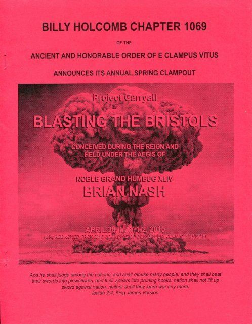 "6015/2010 Spring Clampout ""Blasting The Bristols\"" History"