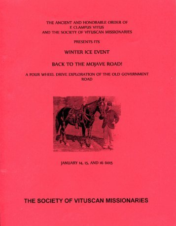 """6015/2010 Winter Vituscan \""""Back To The Mojave Road\"""""""