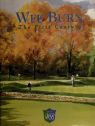 Wee Burn - The First Century
