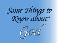 Some Things to Know About God