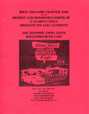 "6016/2011 Fall Clampout ""Emma Jeans Holland Burger Cafe\"" History"