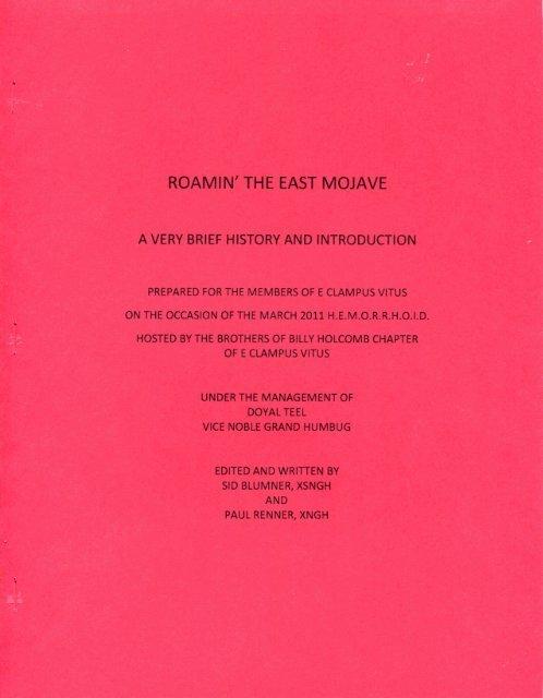"6016/2011 HEMI XXV \""Roamin\' The East Mojave\"" History"