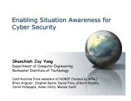 Enabling Situation Awareness for Cyber Security - RIT - Department ...